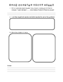 Math Word Problem Think Sheet Common Core Aligned