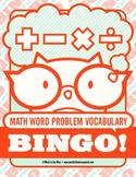 Math Word Problem Vocabulary Bingo