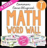 Math Word Wall (1st Grade)