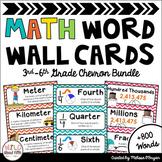 Math Word Wall 3rd-6th Grade BUNDLE Common Core Academic V