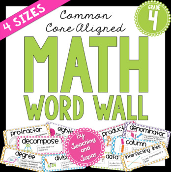 Math Word Wall (4th Grade)