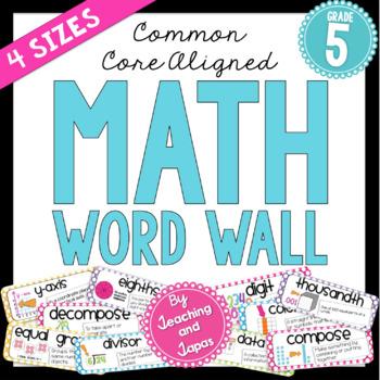 Math Word Wall (5th Grade)