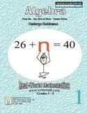 Algebra Practice Worksheets - Common Core Math - 30 Weeks