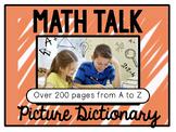 "Math Workshop ""Math Talk"" picture dictionary templates"