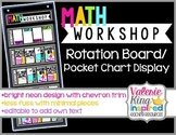 Math Workshop Rotation Board /Pocket Chart Display [editable]