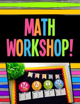 Math Workshop Rotations Board - Bright Neon Colors!