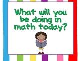 Math Workshop Signs