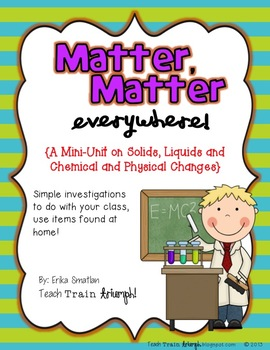 Matter, Matter Everywhere! {A Science Unit on Matter}