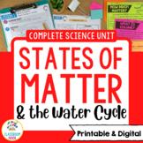 Matter Unit - Lesson Plans, Assessments, Experiments, Bull