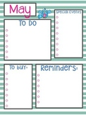 May Calendar & To Do List