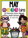 May Math Bins- 22 Common Core Aligned Math Centers