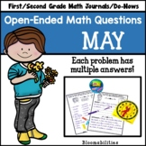 May Open-Ended Math Questions for Journals or Do-Nows (Fir
