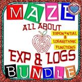 Maze - MEGA BUNDLE 24 mazes on Exponential & Logarithmic F