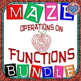Maze - BUNDLE Operations on Functions (6 Mazes)