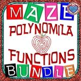 Maze - BUNDLE Polynomial Functions (7 Mazes = 97 FUN QUESTIONS)