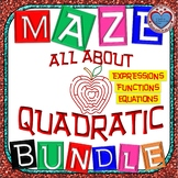 Maze - BUNDLE Quadratic Functions (17 Mazes)