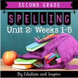 McGraw-Hill Wonders Second Grade Spelling (Unit 2: Weeks 1-5)