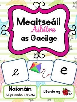 Meaitseáil Aibítre as Gaeilge - aibítir na Gaeilge - Scrip