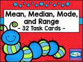 Mean Median Mode and Range 32 Task Card Set - Statistics