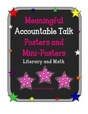 Meaningful Accountable Talk Posters and Matching Mini-Posters