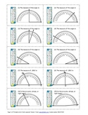 Measure angles with protractor