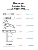 Measurement Scavenger Hunt [inches & centimeters]