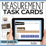 Measurement Task Cards - Measuring to the Nearest Quarter Inch