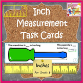 Measurement Task Cards for Inches - whole half and quarter inch