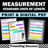 Measurement Length Standard Unit 2nd Grade Math No Prep Wo