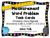 Measurement Word Problem Task Cards {Common Core}