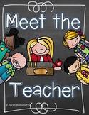 Meet The Teacher (editable files included)