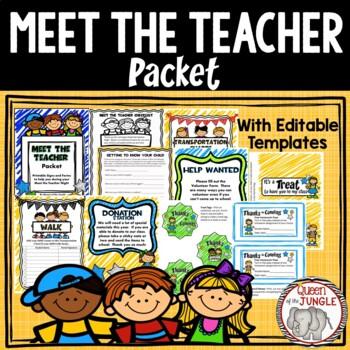 Back to School - Meet the Teacher Night Packet