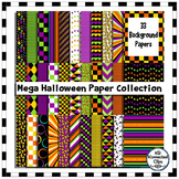 Mega Halloween Background Paper Collection