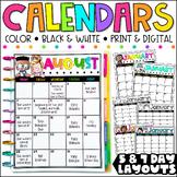 {Melonheadz Edition} Editable Calendar Templates