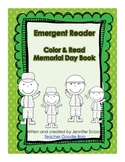 Memorial Day Emergent Reader {Read and Color}