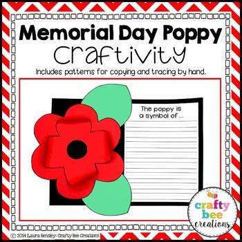 Memorial Day Poppy Craftivity