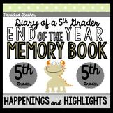 Memory Book: Diary of a 5th Grader