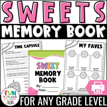 Memory Book (End of the Year) for Grades 3-6 {Candy Themed}