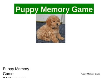 Memory Game:  Puppies