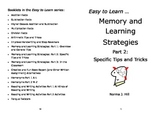 Memory and Learning Strategies 2: Tips & Tricks - Easy Lea