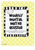 Mental Maths Quizzes (Weekly) - UK Curriculum