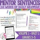 Mentor Sentences Unit: First 10 Weeks (Grades 3-5)