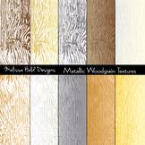 Metallic Woodgrain Textures