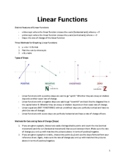 Methods for Graphing Linear Functions