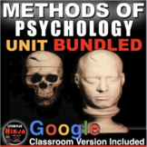 Methods of Psychology Unit: PPTs, Worksheets, Lesson Plans+Test