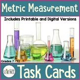 Metric Measurement Task Cards, Grades 6-12, Set of 90 cards