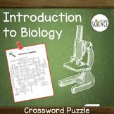 Microscope, Scientific Method, Intro to Biology Crossword Puzzle