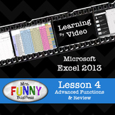 Microsoft Excel 2013 Video Tutorial - Lesson 4