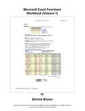 Microsoft Excel Functions Workbook, Volume 1
