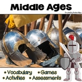 Middle Ages Vocabulary Cards, Assessments & Activities
